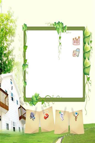 ppt 背景 背景图片 边框 模板 设计 素材 相框 320_480 竖版 竖屏