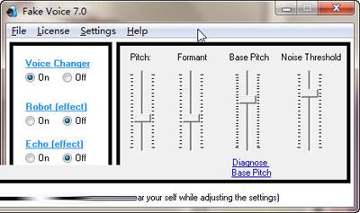 本软件就是用来改变麦克风音调的!使男声变女声,女声变男声!