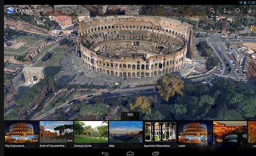 谷歌街景服务,用户只需点击左侧的地球logo,就能体验街景地图带来的