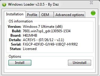 Windows Loader V2.0.5