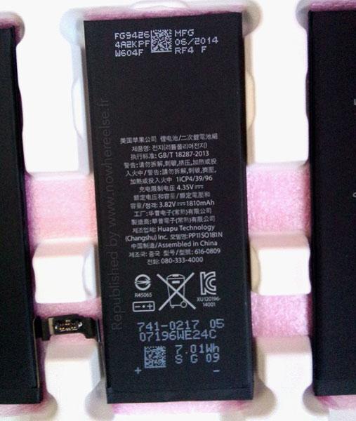 iphone 6电池图片曝光