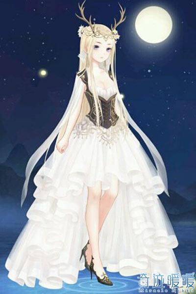 暖暖古代婚纱手绘