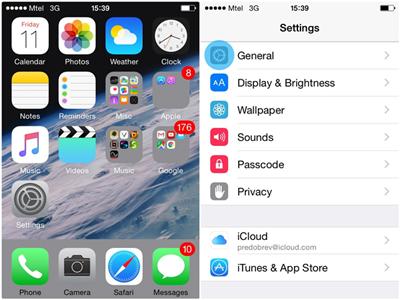 iphone手机界面图片